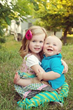 Brother and Sister looks like adeline and her new baby brother