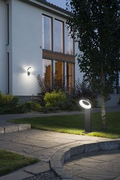 An aluminium halo bollard light with an rating and high powered LEDs for residential and commercial gardens from Lighting Styles.