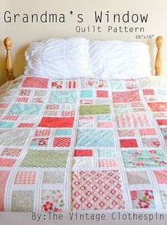 It's finished! I've been dying to get it all ready and here it is. I'm so glad my Mom was here to make one of my quilt designs. Wh...