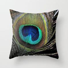 Peacock clothes Throw Pillow