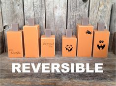 REVERSIBLE chunky pumpkins one side by stickwithmevinyl on Etsy, $25.00