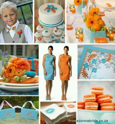 He picked the teal - I want the orange - pumpkins for my fall wedding would be AWESOME!