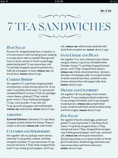 Tea sandwiches!