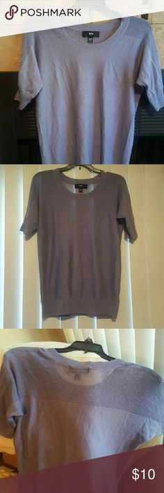 SALE Mossimo Top Beautiful lavender color top. Mesh on shoulders. Quarter sleeves. Armpit to armpit 20in. Shoulder to hem 25in. Mossimo Supply Co Tops