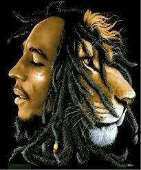 Bob  Marley  With Lion