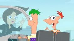 No matter where we go, Ferb knows everybody!!