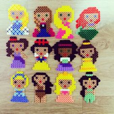 Disney Princess perler beads by zzo_ra