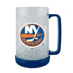 Boelter NHL 16 Ounce Freezer Mug - New York Islanders. Keep In The Freezer So Your Next Beverage Is Ice Cold! This 16Oz Double-Walled, Acrylic Mug Is Insulated With Crystals, And Is Decorated With Team-Colored Handle And Base. Mug Is Bpa-Free And Highly Durable.  Boelter NHL 16 Ounce Freezer Mug - New York IslandersSport Theme: HockeyLeague: NHLTeam: New York Islanders