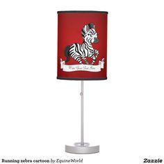 Running zebra cartoon table lamp