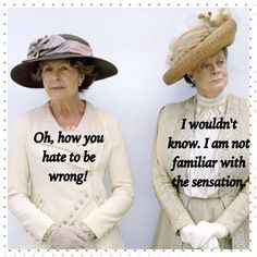 Isobel Crawley and her cousin, Violet Crawley, The Dowager Countess of Grantham - Downtown Abbey Gentlemans Club, Downtown Abbey Quotes, Movie Quotes, Funny Quotes, Book Quotes, Great Quotes, Inspirational Quotes, Lady Violet, Dowager Countess