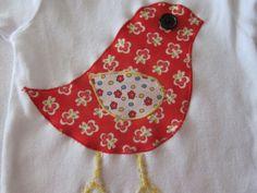 Bird Applique Onesie by ShineyHineys on Etsy, $12.50