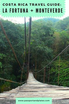 If you're wondering which cities to add to your Costa Rica itinerary, don't miss La Fortuna and Monteverde! CLICK to read the Costa Rica Travel Guide: La Fortuna and Monteverde edition and start planning your trip!   http://passportandplates.com