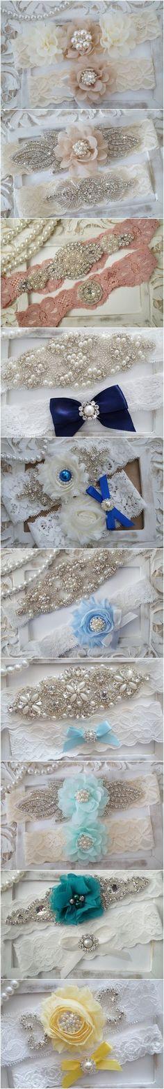 Vintage Lace Wedding Garter Set via OneFancyDay / http://www.deerpearlflowers.com/wedding-garters-sets-from-etsy/2/