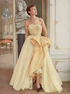 Renewed splendour | 1950s Robert Piquet gown..  via pinterest..