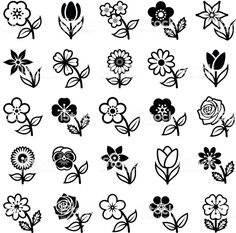 Find Flower Icon Collection Vector Illustration stock images in HD and millions of other royalty-free stock photos, illustrations and vectors in the Shutterstock collection. Thousands of new, high-quality pictures added every day. Flower Clipart, Vector Flowers, Drawing Clipart, Doodle Art Journals, Flower Doodles, Doodle Flowers, Icon Collection, Mini Tattoos, Floral Illustrations