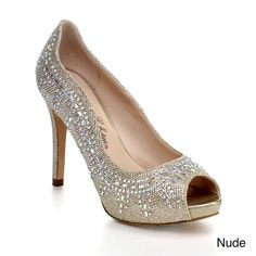 211c2424d749 Blossom Women s Peep Toe Glitter Sparkle Slip On Platform Dress Pump Heel -  Overstock™ Shopping - Great Deals on Blossom Heels