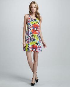 Alice & Olivia Haylen Floral-Print Dress