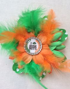 I love Irish Boys St Patrick's Day Green and by SweetieBeads