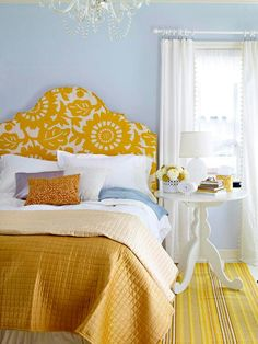 Sunny Yellow Accents In Bedrooms – 49 Stylish Ideas | DigsDigs