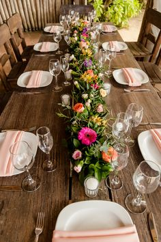 Wedding Blog, Destination Wedding, Dream Wedding, Table Flowers, Colorful Flowers, Table Runners, Centerpieces, Table Settings, Dining Room