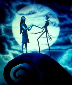 Jack Skellington and Sally in  The Nightmare Before Christmas 1993
