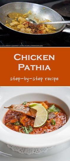 Pathia Chicken Pathia - A classic British Indian restaurant dish.Chicken Pathia - A classic British Indian restaurant dish. Spicy Recipes, Curry Recipes, Indian Food Recipes, Asian Recipes, Chicken Recipes, Cooking Recipes, Healthy Recipes, Ethnic Recipes, Cooking Pork