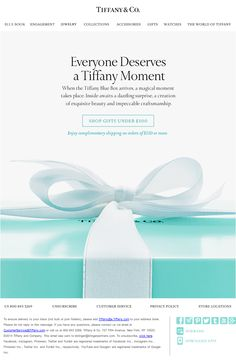 Great copywriting. Tiffany's email