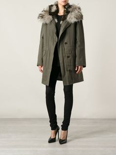 Yves Salomon Fur Trim Coat - Petra Teufel - Farfetch.com