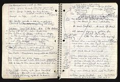 """Notebook of Don DeLillo for the novel """"Underworld. Writers Notebook, Writers Write, Journal Notebook, Journal Pages, Daily Journal, Don Delillo, Men Of Letters, Commonplace Book, Journal Inspiration"""