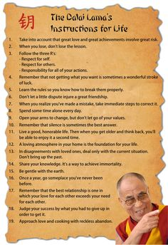 The Dalai Lama's Instructions for Life
