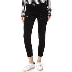 Joie Velvet Park Skinny Pants ($238) ❤ liked on Polyvore featuring pants and capris