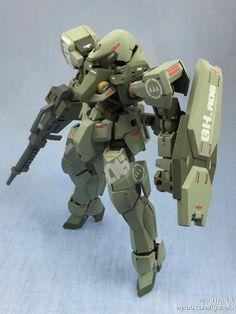 Custom Build: HG 1/144 Graze +Detailed Design - Gundam Kits Collection News and Reviews