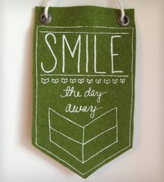 Smile The Day Away Mini-Banner