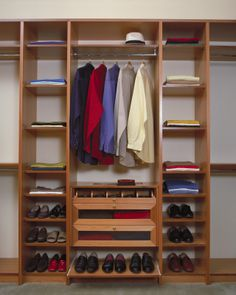 Imagine your husband's things neatly organised! Designated space for his shoes and drawer storage compartments for his ties and belts. Drawer Storage, Storage Compartments, Walk In Wardrobe Design, Walk In Robe, Bed Wall, Wardrobes, Storage Solutions, Shoe Rack, Belts