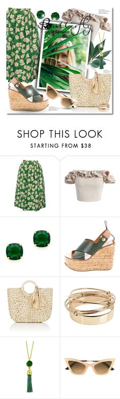 """""""Floral skirt"""" by elona-makavelli ❤ liked on Polyvore featuring Rochas, Chicwish, Kate Spade, Barneys New York, Valentino and Christian Roth"""