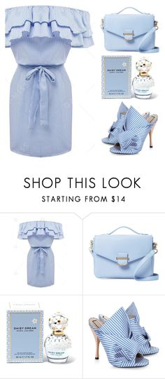 """Blue x Strippes"" by bloggersxbrands ❤ liked on Polyvore featuring Cynthia Rowley, Marc Jacobs and N°21"
