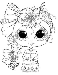 Cute Coloring Pages, Colouring Pics, Animal Coloring Pages, Coloring Books, Free Adult Coloring, Coloring Pages For Kids, Colorful Drawings, Cute Drawings, Art Therapy Activities