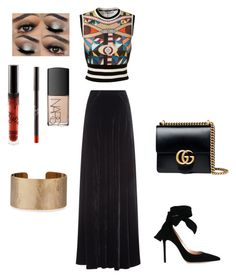 """""""Sister made this she called it Kim k"""" by xixi2010 ❤ liked on Polyvore featuring Givenchy, Etro, Gianvito Rossi, Gucci, NARS Cosmetics and Panacea"""