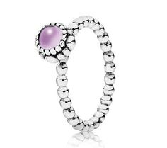Pandora Silver & Amethyst February Birthstone Ring 190854AM - £40.00