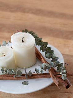 Festliche Düfte kombiniert mit Kerzenlicht