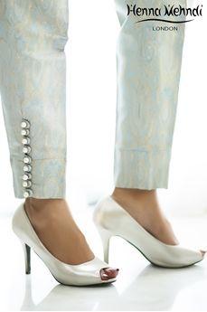 Blue Jamavaar Trousers