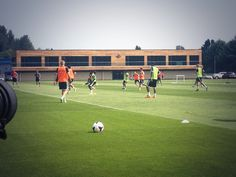 The Swans pre-season training at Landore. Great training pitch!
