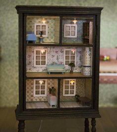 Old dresser turned into a dollhouse, what a great idea. From Do It Yourself on Facebook.