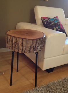 wood and metal side table - Google Search