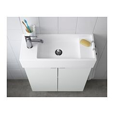 """IKEA - LILLÅNGEN, Sink, 1 bowl, 23 5/8x10 5/8x5 1/2 """", , Sink can be mounted with the faucet on either the left or right side.Can be used as a shelf for a soap dish and tumbler, thanks to the depth of the frame."""