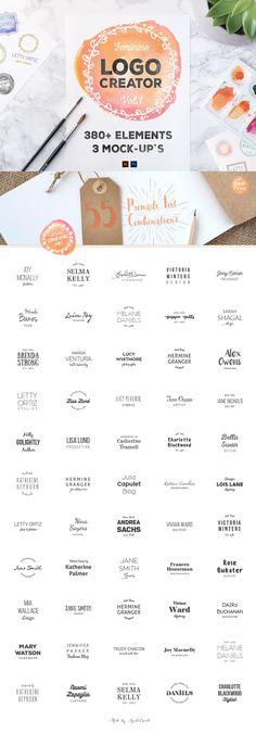 LogoCreator 380+ Elements & Mock-Ups Template PSD