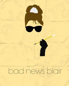"""Gossip Girl Minimal Posters : Season 1 - #GG #S01E04 #BadNewsBlair ~ """"You take everything from me! It's what you do."""""""