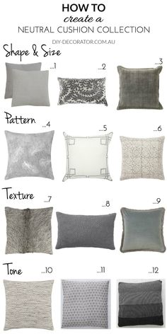 How to Create a Neutral Cushion Collection