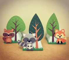 Birthday Gifts Diy Baby Ideas For 2019 Forest Party, Woodland Party, Forest Theme, Animal Birthday, Birthday Diy, Birthday Gifts, Diy And Crafts, Crafts For Kids, Paper Crafts