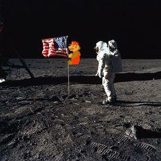 Super Mario On the Moon